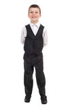 Boy in a suit on white Royalty Free Stock Photos