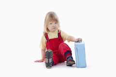Boy with a suitcase Stock Photo