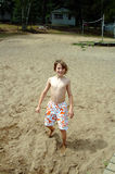 Boy at summer camp Royalty Free Stock Images
