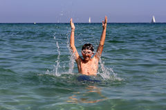 Boy on summer holidays Royalty Free Stock Image