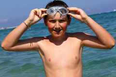 Boy on summer holidays Royalty Free Stock Photos