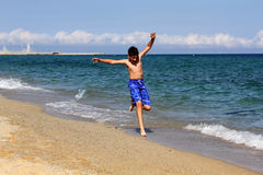 Boy on summer holidays Stock Photo