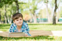 Boy in summer park Royalty Free Stock Photo