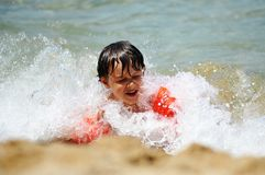 Boy on summer vacation Royalty Free Stock Photos
