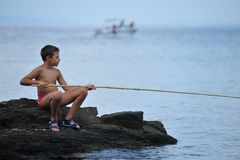 Boy on summer vacation Stock Photography