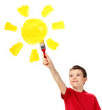 Boy and sun Stock Images