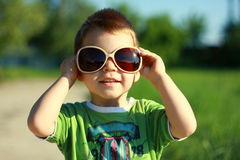 Boy in Sun Glasses Stock Photos
