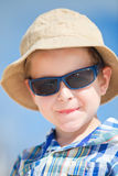 Boy in sun glasses Royalty Free Stock Images