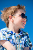 Boy in sun glasses Royalty Free Stock Image
