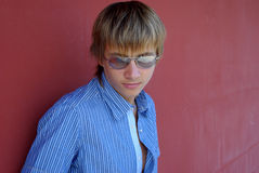 Boy with sunglasses Royalty Free Stock Photo