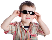 a boy in the sunglasses.  Stock Photography