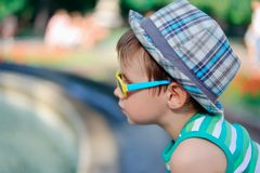 The boy in sunglasses Stock Photo