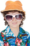 Boy with sunglasses Stock Image