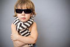 Boy in sunglasses Royalty Free Stock Photo