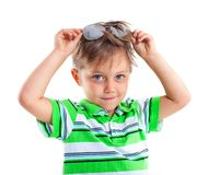 Boy in the sunglasses Stock Photography