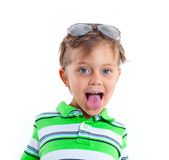 Boy in the sunglasses Royalty Free Stock Photo