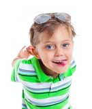 Boy in the sunglasses Royalty Free Stock Image
