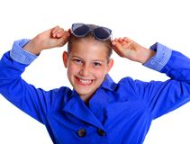 Boy in the sunglasses Royalty Free Stock Photography