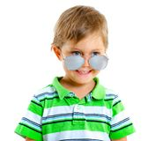 Boy in the sunglasses Royalty Free Stock Photos