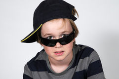 Boy with sunglasses Royalty Free Stock Images