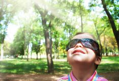 Boy in sunglasses Stock Image