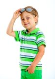 Boy in the sunglasses Stock Images