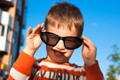 Boy with sunglasses Stock Photography