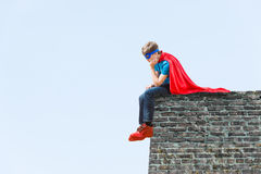 A boy super hero Stock Photography