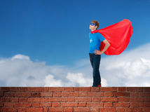 Boy super hero Stock Image