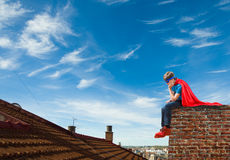 A boy super hero Royalty Free Stock Image