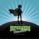 Boy super hero burst background Stock Photography