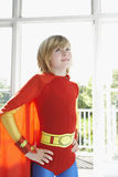 Boy In Superhero Costume With Hands On Hip Royalty Free Stock Images