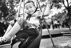 Boy Superhero Dressup Aspiration Playground Concept. Boy Superhero Dressup Aspiration Playground Royalty Free Stock Images