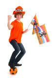 Boy is supporting the Dutch Stock Photo