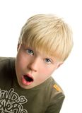 Boy with suprised expression Royalty Free Stock Photo