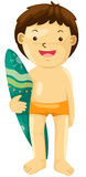Boy with surf board Royalty Free Stock Photography