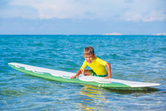 Boy with surf Royalty Free Stock Photo