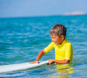 Boy with surf Royalty Free Stock Photography