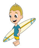 Boy surfer stock illustration