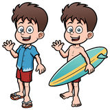Boy Surfer with Surfboard Royalty Free Stock Image