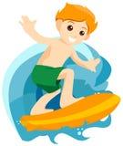 Boy Surfing Stock Photos