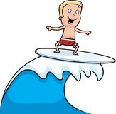 Boy Surfing Royalty Free Stock Images