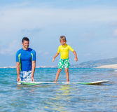 Boy surfing Royalty Free Stock Image