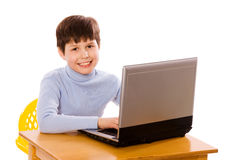 Boy Surfing net Royalty Free Stock Photography