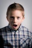Boy surprised royalty free stock photo