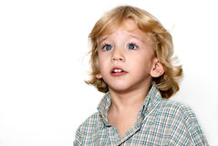 The boy with surprised face Stock Photography