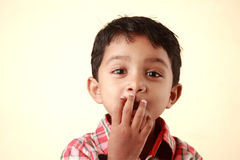 Boy with surprised face Royalty Free Stock Image