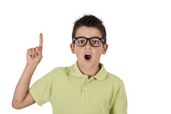 Boy with surprised face Stock Photography