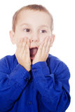 Boy with surprised or shocked expression Stock Photography