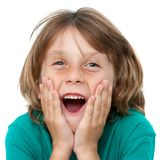 Boy with surprising face expression. Stock Photography